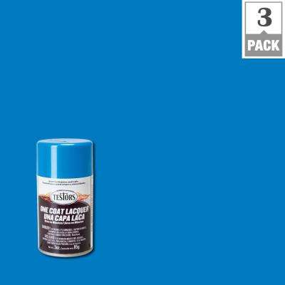 3 oz. Icy Blue Lacquer Spray Paint (3-Pack)