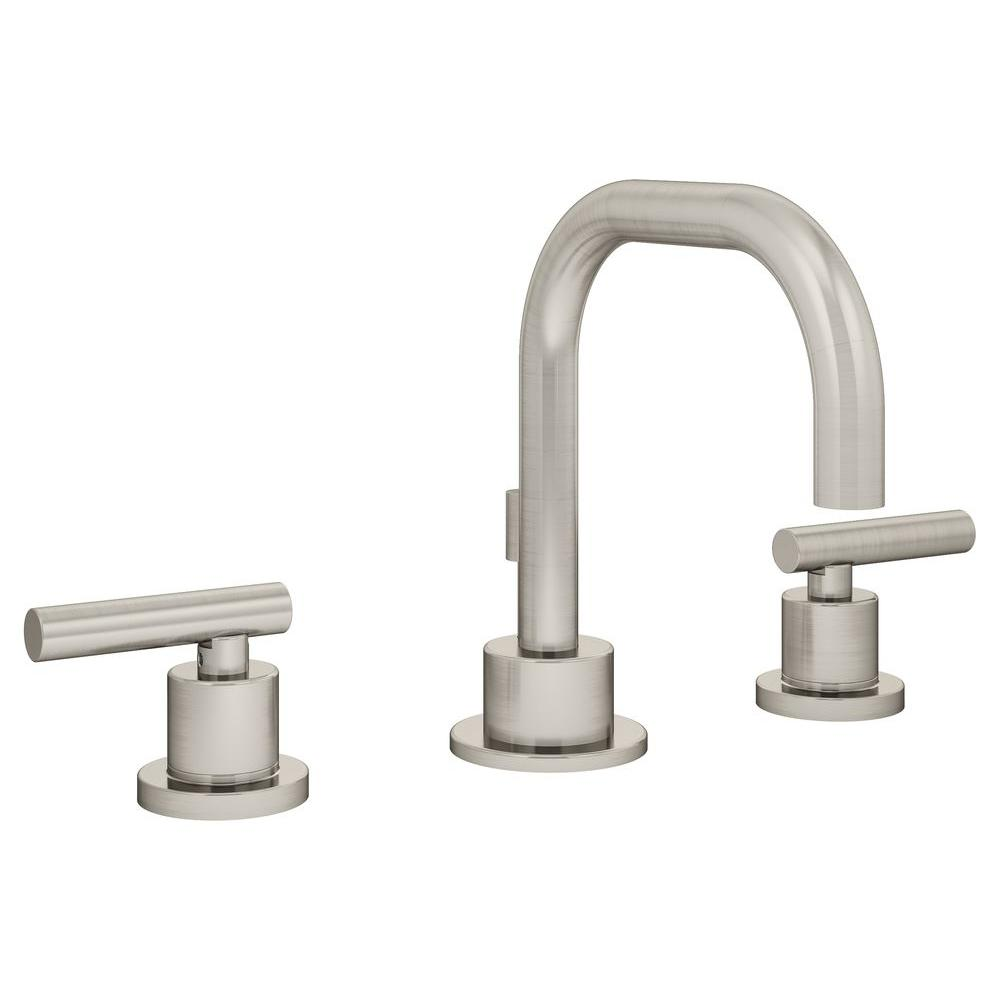 Symmons Dia 8 In. Widespread 2-Handle Bathroom Faucet In Satin-SLW-3512-STN