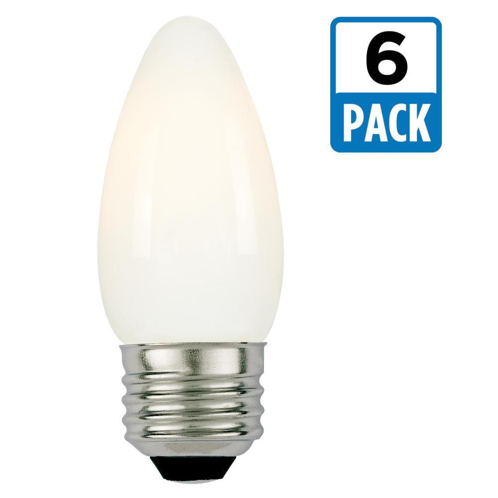 60-Watt Equivalent Soft White B11 Dimmable Filament LED Light Bulb (6-Pack)