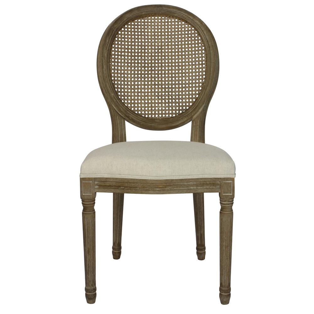Phenomenal Louis Beige Cane Dining Chair Set Of 2 Dwc 455Bg The Ncnpc Chair Design For Home Ncnpcorg