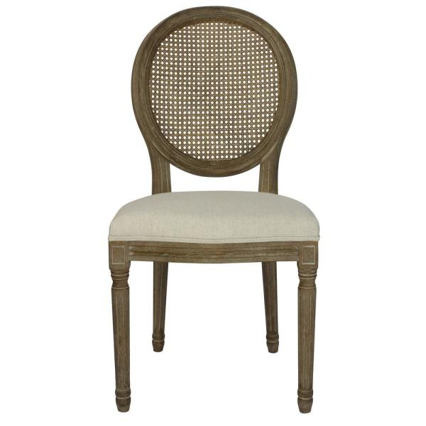 Louis Beige Cane Dining Chair Set Of 2