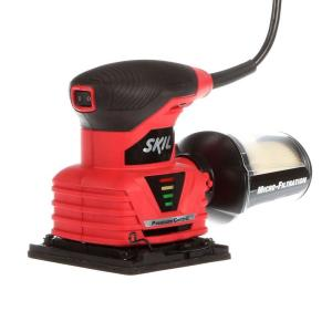 Skil 2 Amp Corded Electric 1/4 inch Sheet Palm Sander with Pressure Control and Micro Filtration Kit by Skil