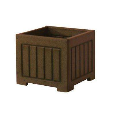 Catalina 12 in. x 12 in. Brown Recycled Plastic Commercial Grade Planter Box