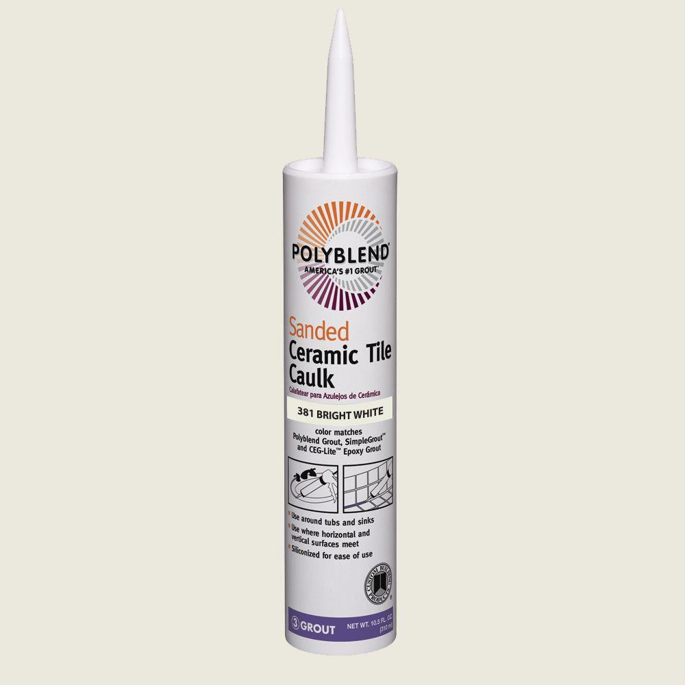 Custom Building Products Polyblend 381 Bright White 10 5 Oz Sanded Ceramic Tile Caulk