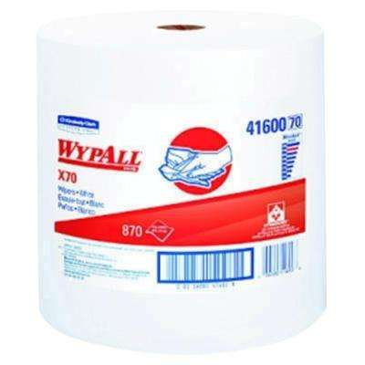 X70 White Perforated Wipers Jumbo Roll (870-Roll)