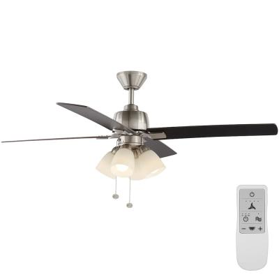 Malone 54 in. LED Indoor Brushed Nickel Ceiling Fan with Light Kit Works with Google Assistant and Alexa