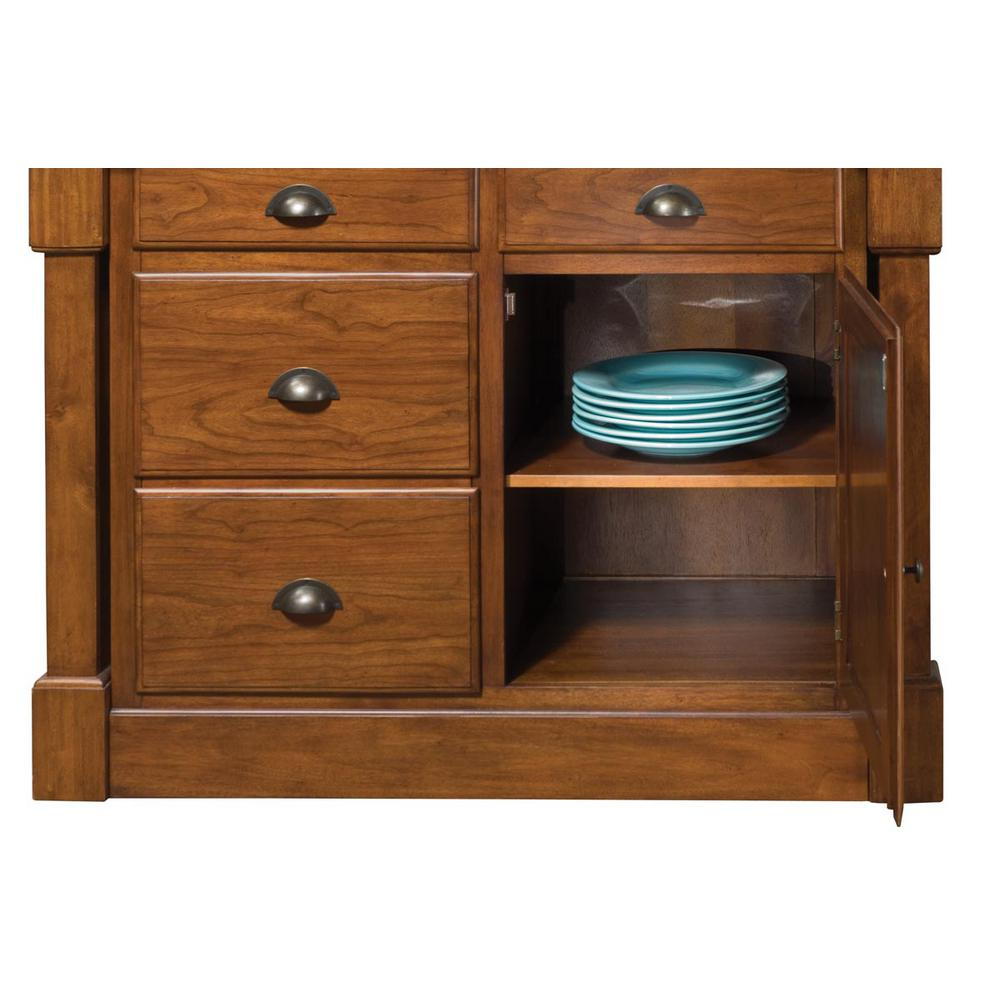 Aspen Rustic Cherry Kitchen Island With Granite Top Home Styles