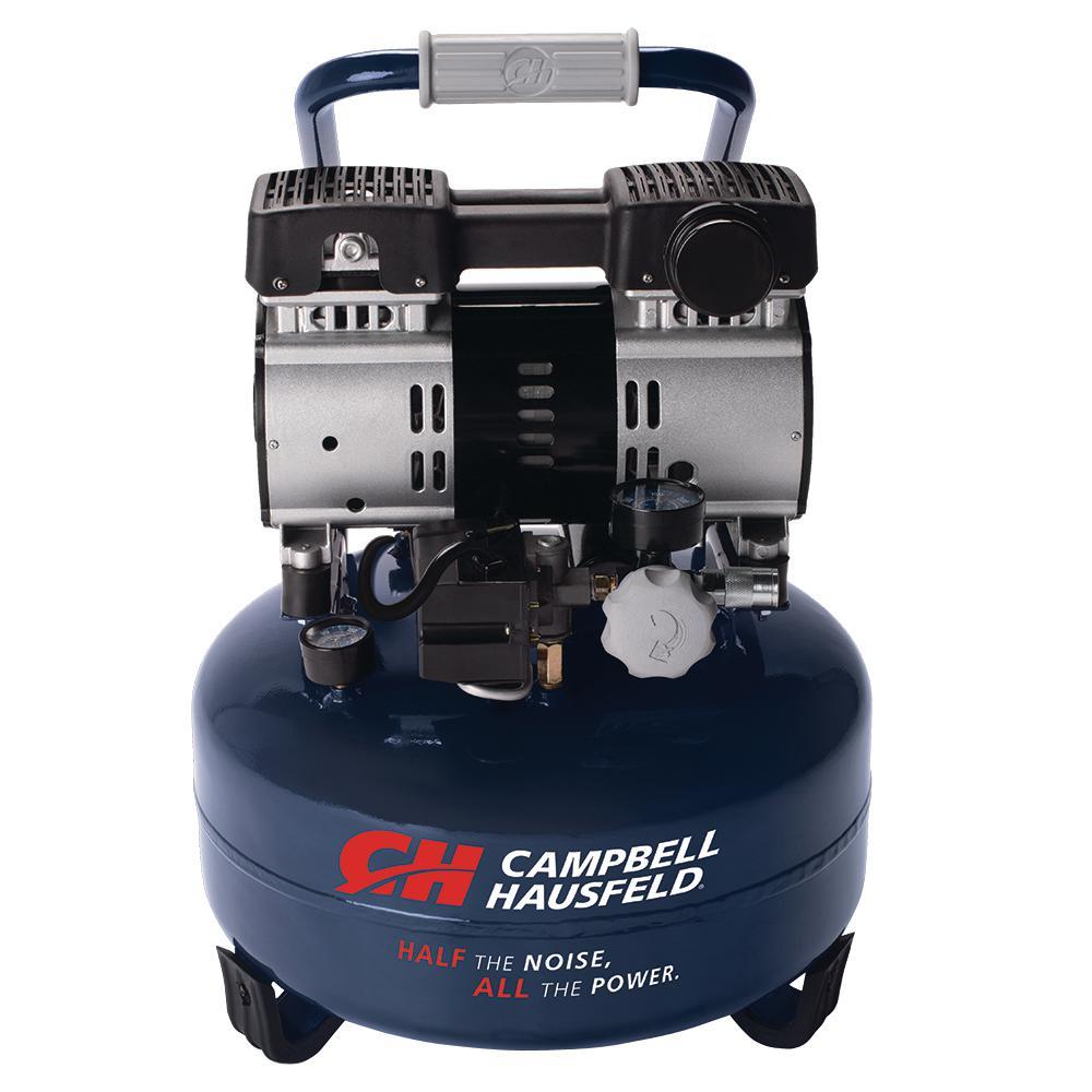 Campbell Hausfeld 6 Gal. Electric Pancake Quiet Air Compr...
