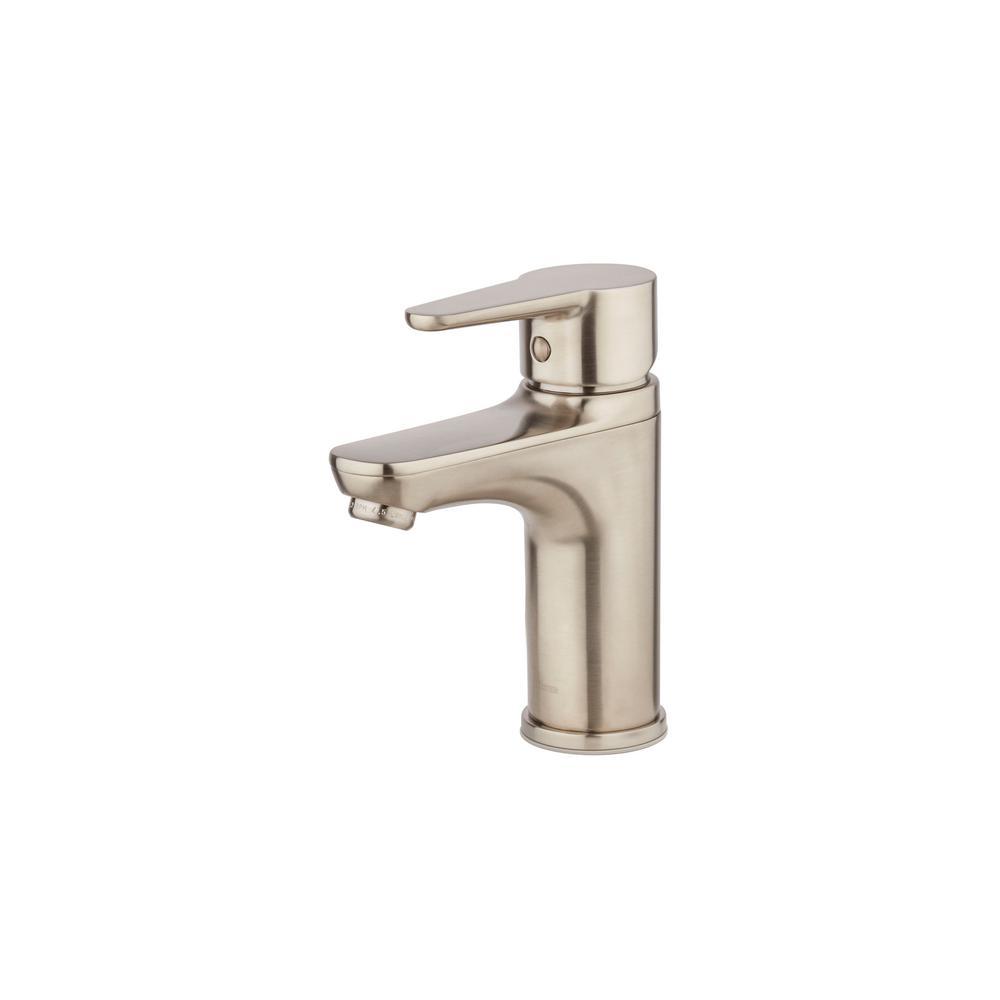 Pfister Pfirst Modern Single Hole Single-Handle Bathroom Faucet in ...