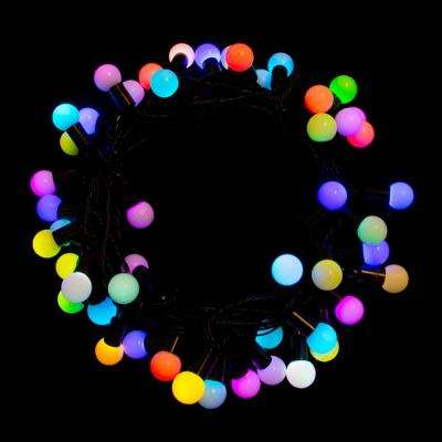 32 ft. 75-Light LED Multi-Color Electric Powered String Lights - Multi Colors - Christmas Lights - Christmas Decorations - The Home Depot