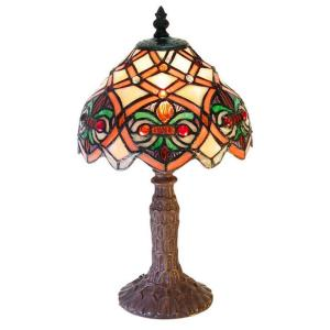 Warehouse of Tiffany 13 inch Small Arielle Multicolored Accent Brown Table Lamp by Warehouse of Tiffany