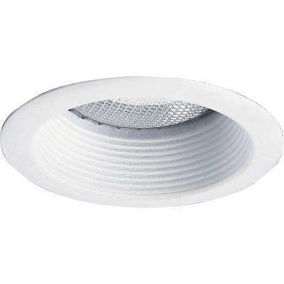 5 in. White Recessed Shallow Baffle Trim