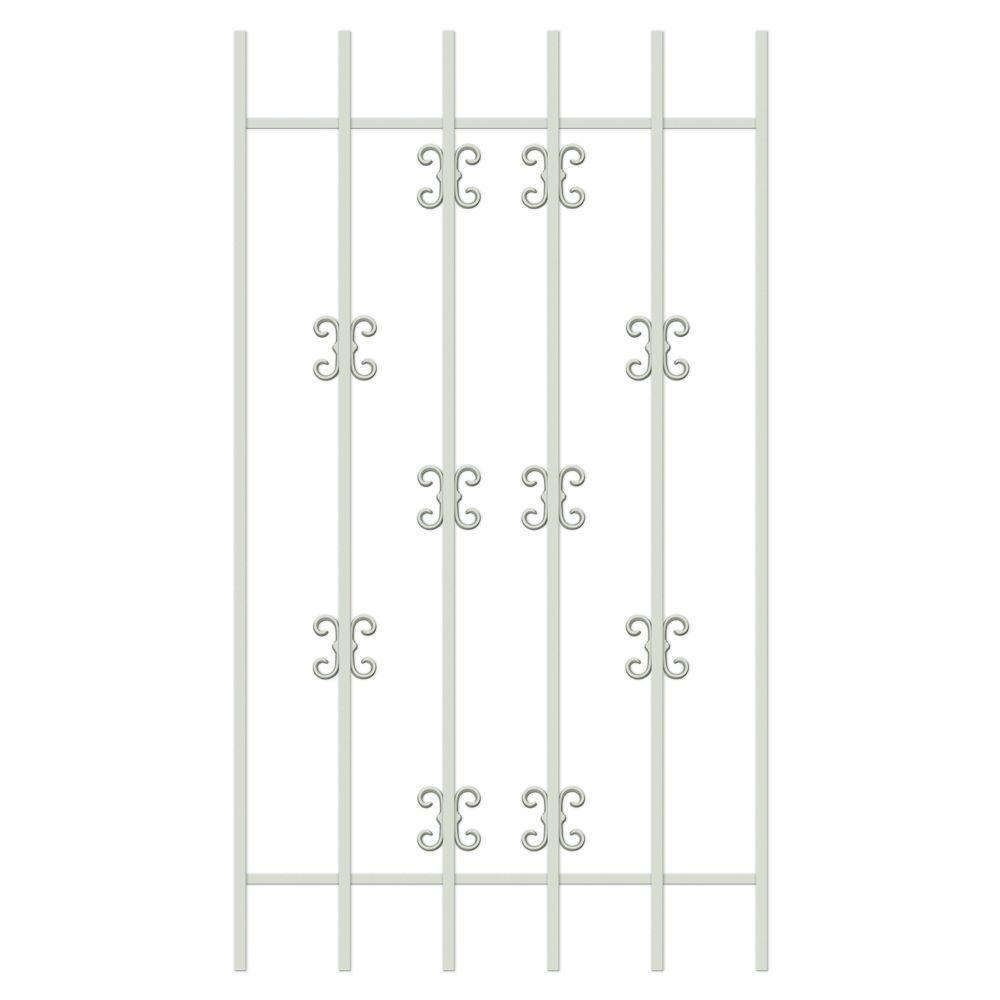 Unique Home Designs Moorish Lace 30 in. x 54 in. Almond 6-Bar Window Guard-DISCONTINUED
