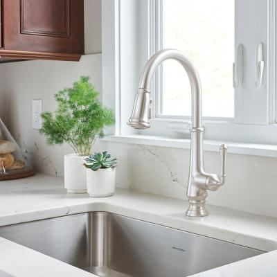 Delancey Single-Handle Pull-Down Sprayer Kitchen Faucet in Polished Nickel
