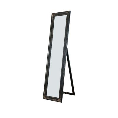Oversized Copper Wood Modern Mirror (63 in. H X 1.9 in. W)