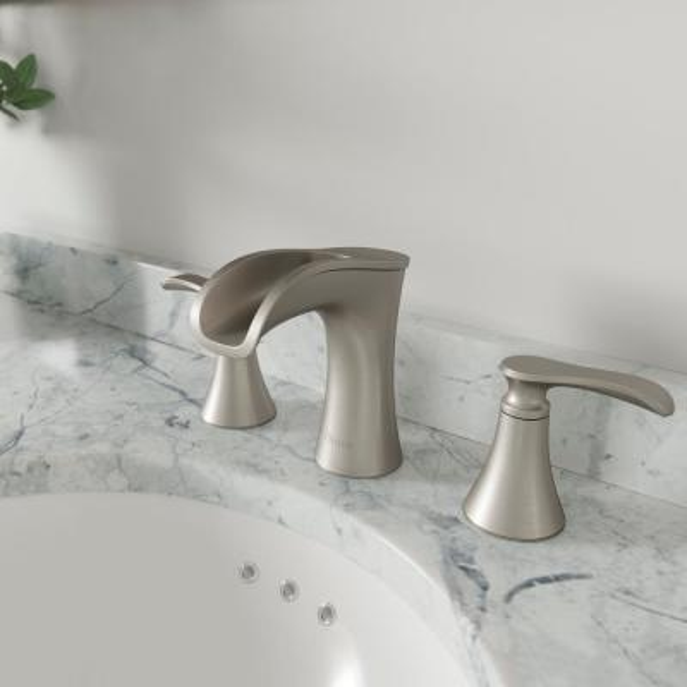 Jaida 8 in. Widespread 2-Handle Bathroom Faucet in Spot Defense Brushed Nickel