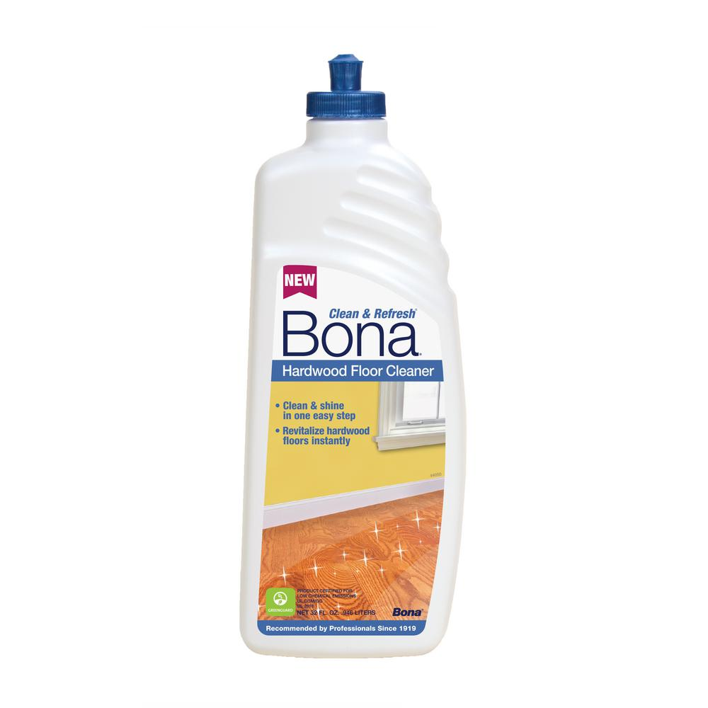 Bona 32 oz clean and refresh hardwood floor cleaner for Hardwood floor cleaner