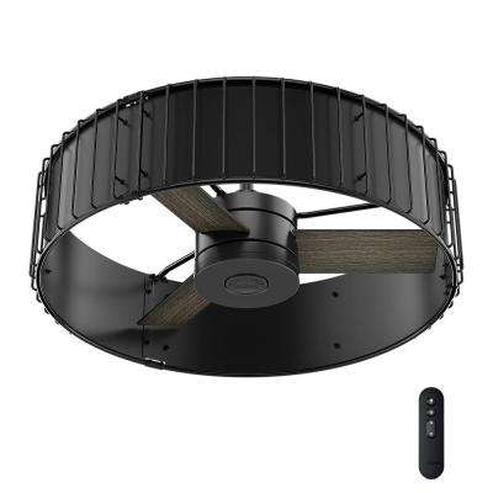 Vault 30 in. Indoor Matte Black/Gloss Black Ceiling Fan