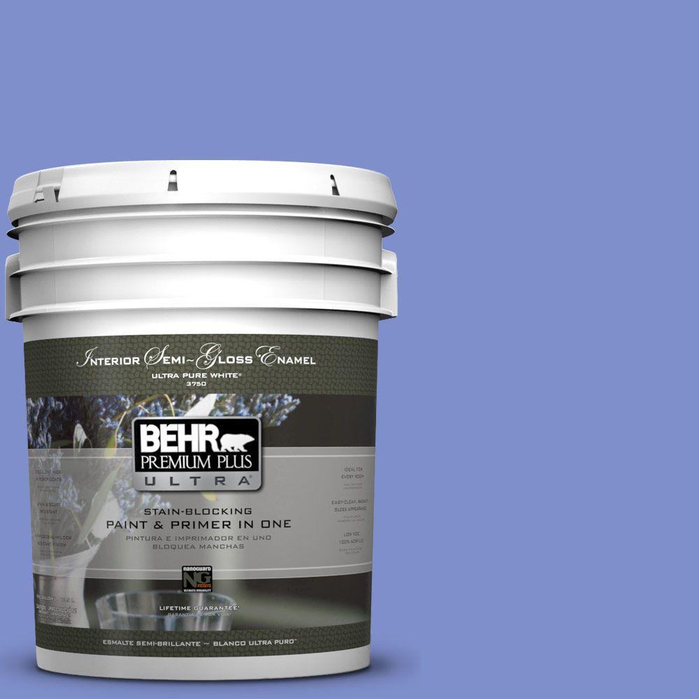 BEHR Premium Plus Ultra 5-gal. #P540-5 Pansy Garden Semi-Gloss Enamel Interior Paint