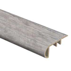 Coastal Oak Silver Sycamore 3 4 In Thick X 2 1 8 In Wide X 94 In Length Vinyl Stair Nose Molding 015543820 The Home Depot