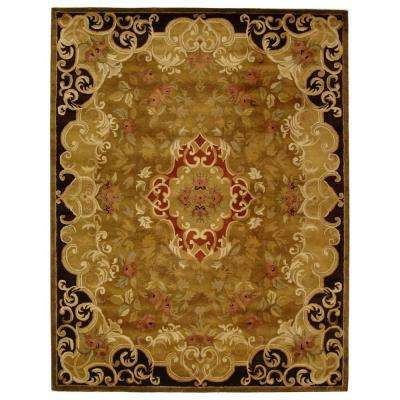 Classic Gold/Cola 8 ft. x 11 ft. Area Rug