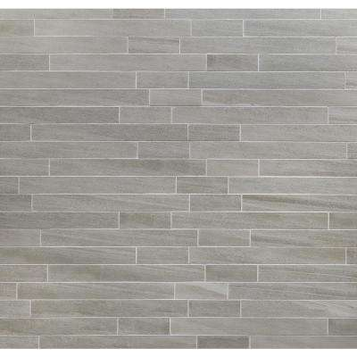 Sandstone Grigio 12 in. x 24 in. 10mm Matte Porcelain Floor and Wall Mosaic Tile (6 pieces / 11.62 sq. ft. / box)