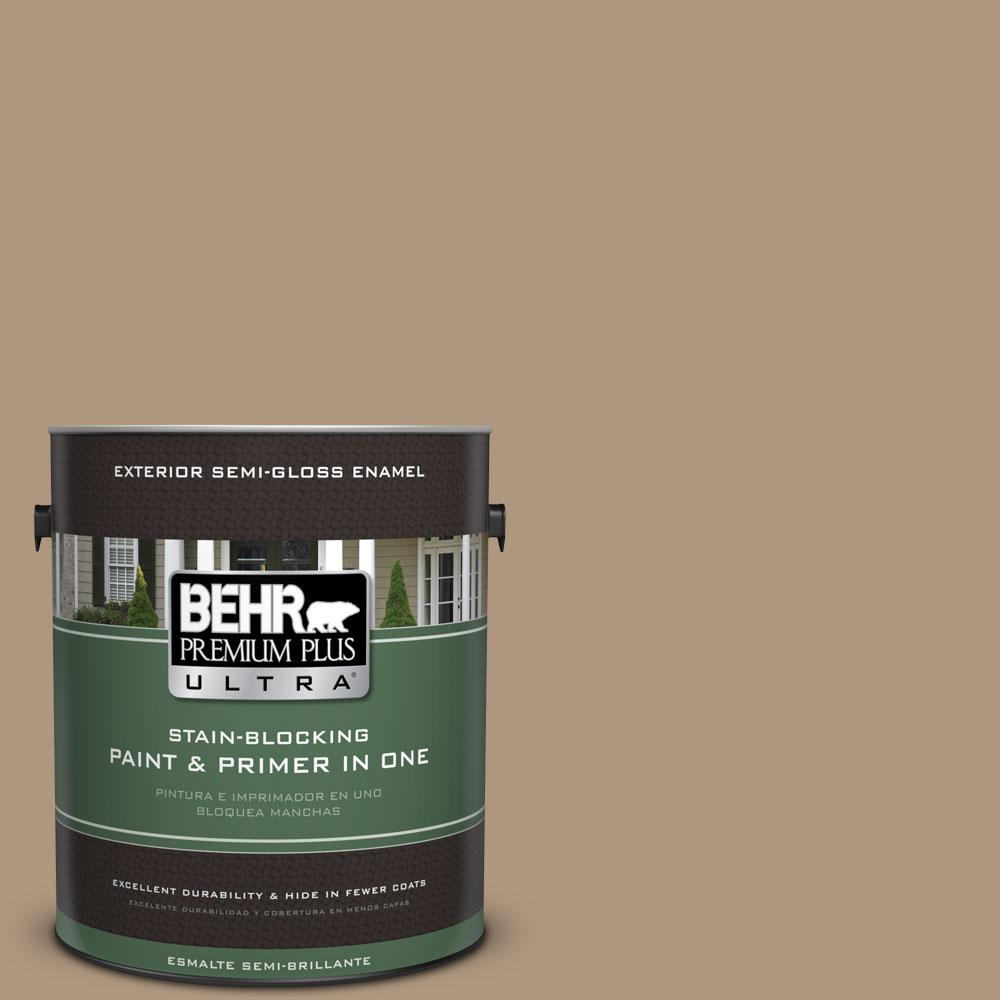BEHR Premium Plus Ultra Home Decorators Collection 1-gal. #HDC-WR14-3 Roasted Hazelnut Semi-Gloss Enamel Exterior Paint