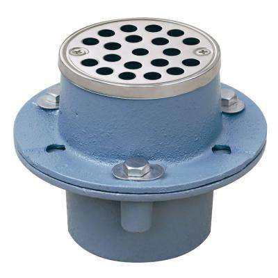 2 in. Cast-Iron Shower Drain with Strainer