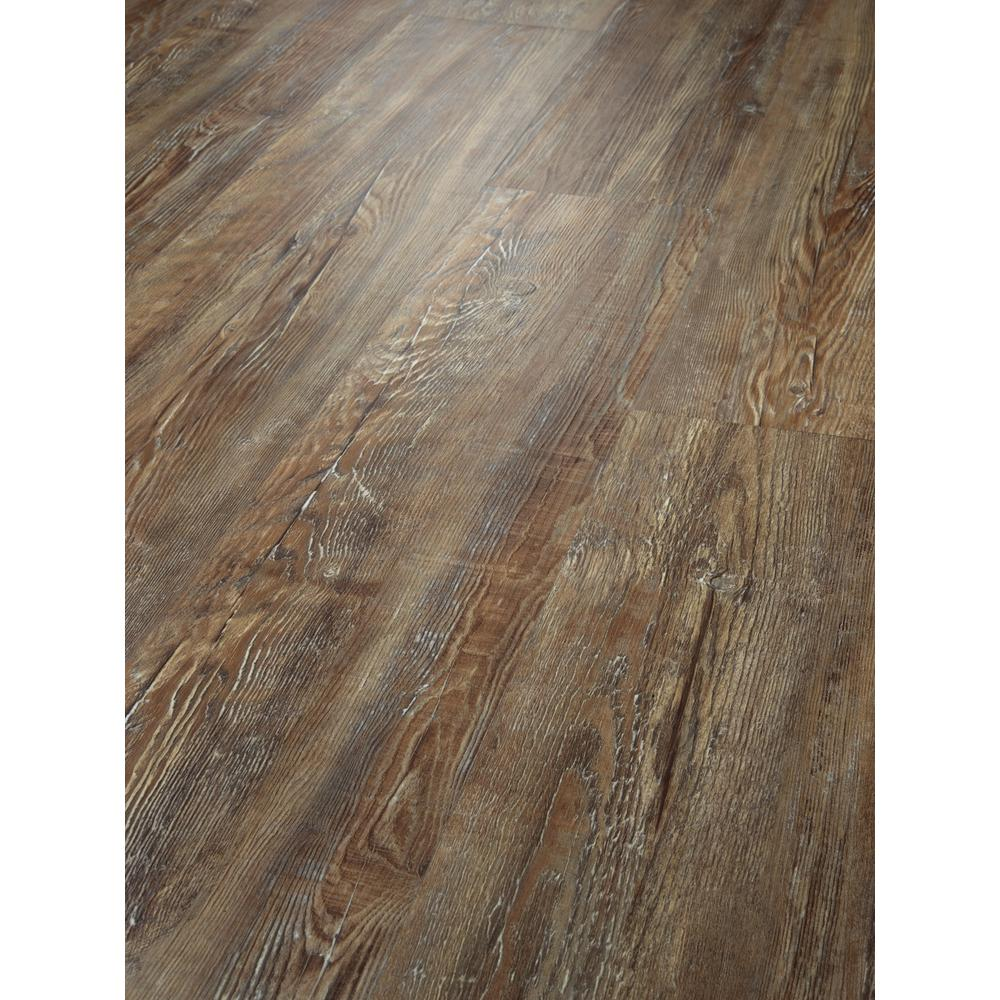 Shaw Alliant 7 in  x 48 in  Weathered Resilient Vinyl Plank Flooring (34 98  sq  ft  / case)