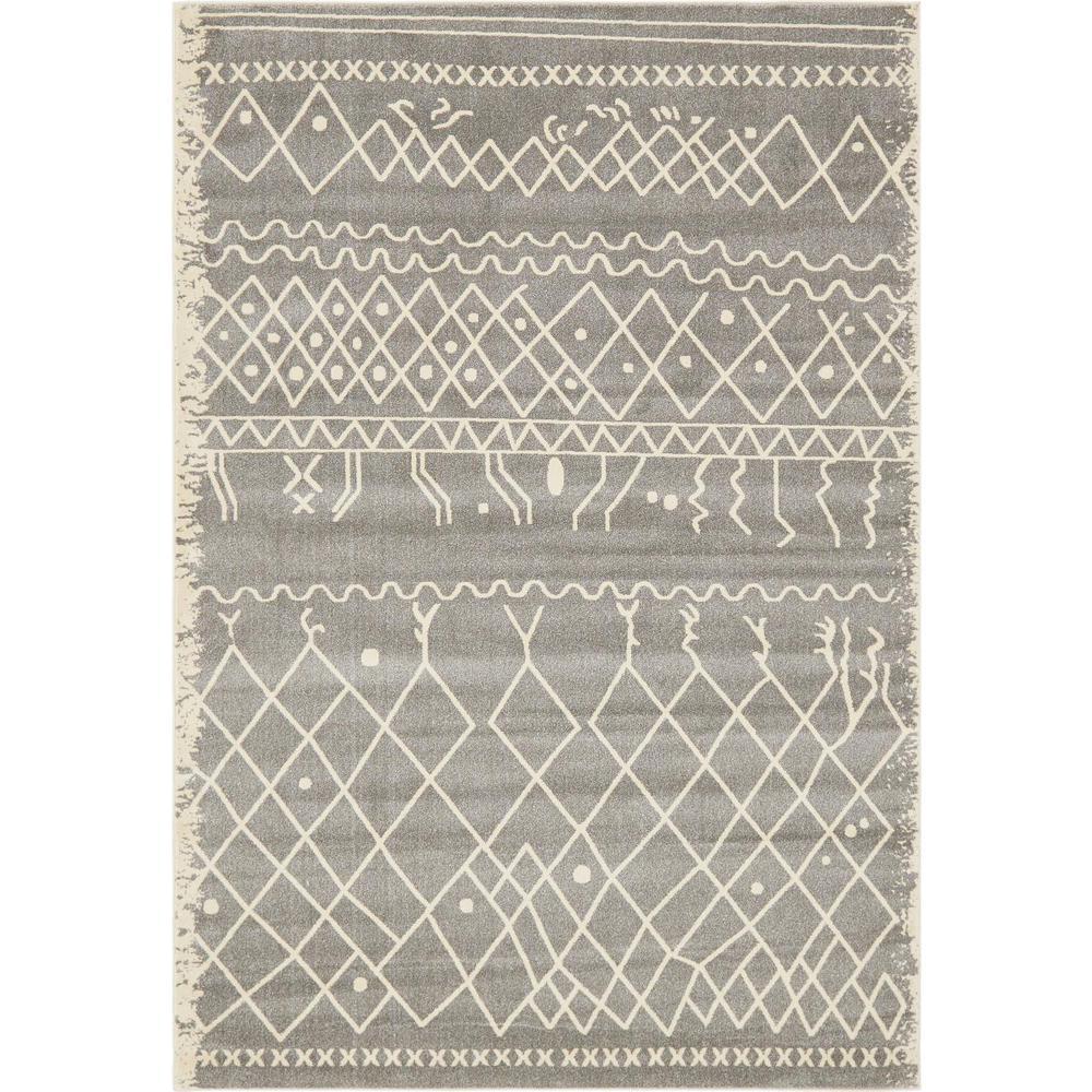 Fez Tribal Gray 7' 0 x 10' 0 Area Rug