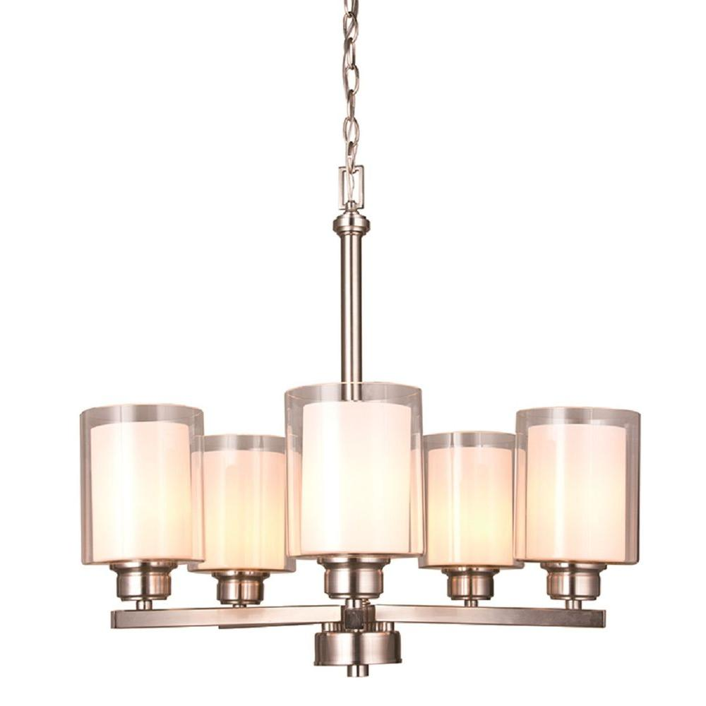Olso 5-Light Satin Nickel Chandelier
