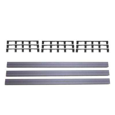 Deck-A-Floor Premium Westminster Gray Fascia Kit (3-Pieces/Box)