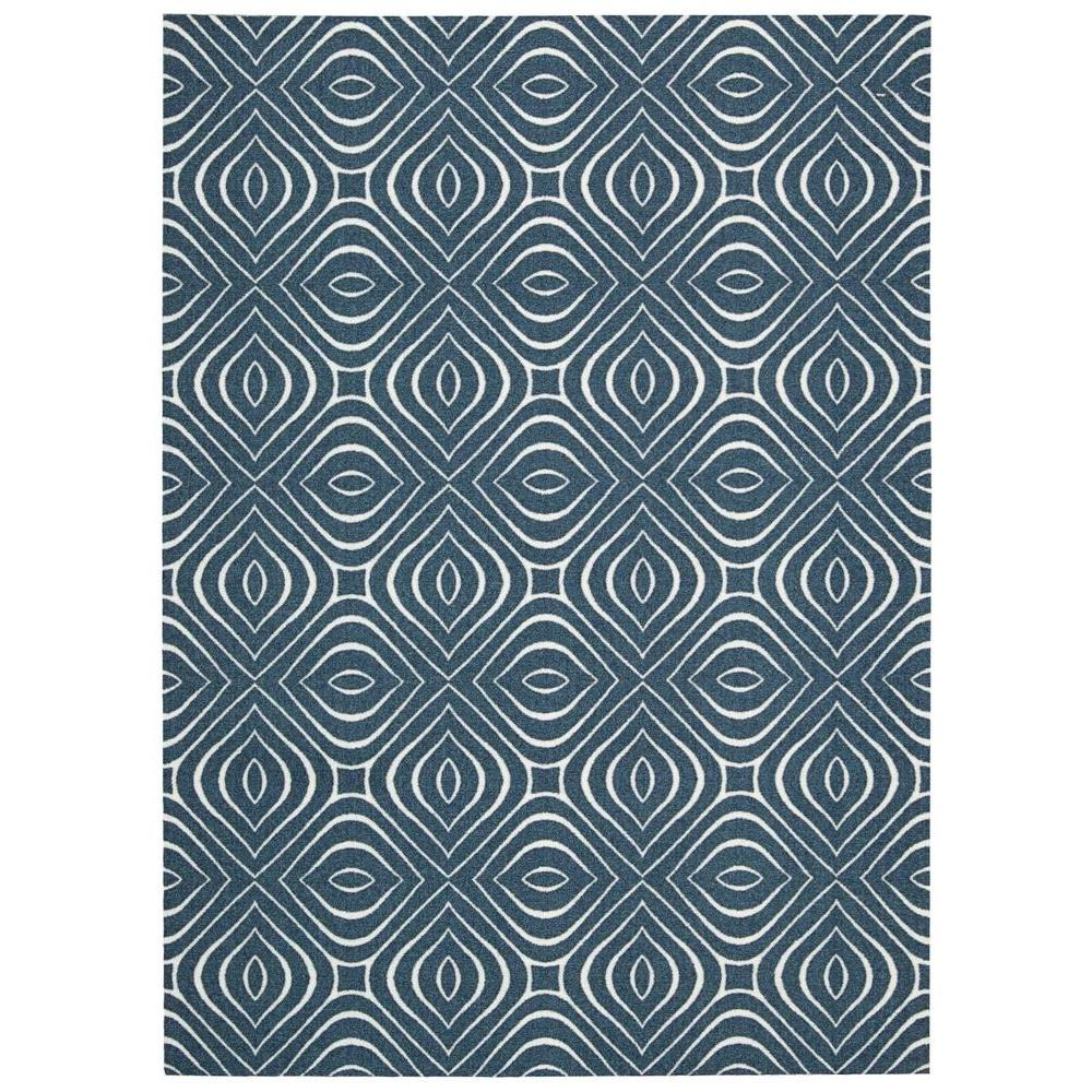 Nourison Overstock Enhance Cadet Blue 8 Ft X 10 Area