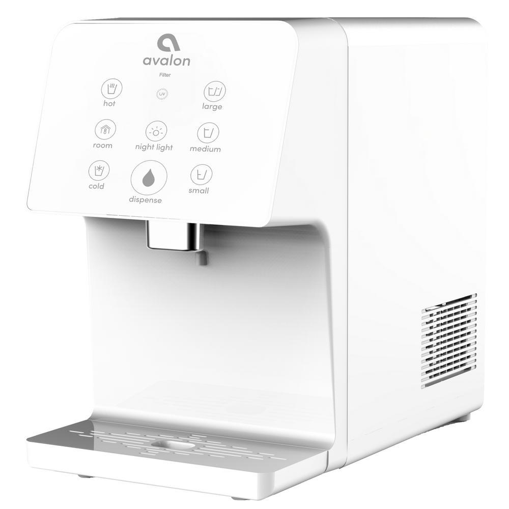 Avalon Electric Countertop Bottleless Water Cooler Water Dispenser in White, Whites