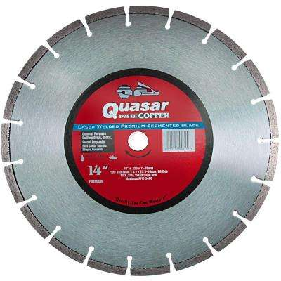 Speed Kut Copper 14 in. Laser Welded Premium Segmented Diamond Blade