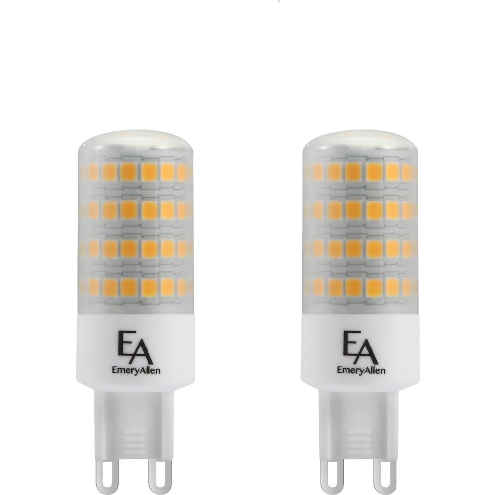60-Watt Equivalent G9 Base Dimmable 2700K LED Light Bulb Warm White (2-Pack)