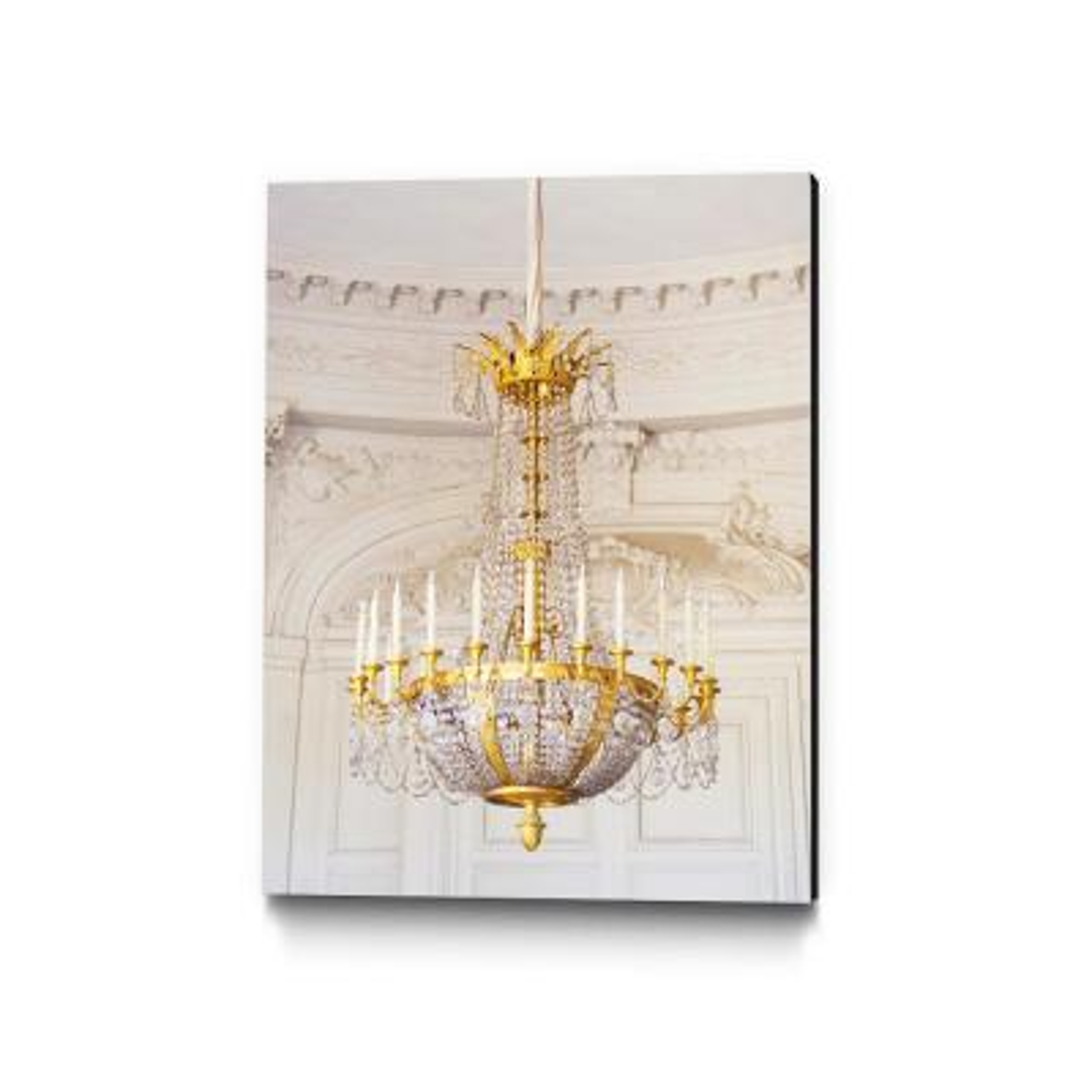 "30 in. x 40 in. ""Versailles Chandelier III"" by Georgianna Lane Wall Art"