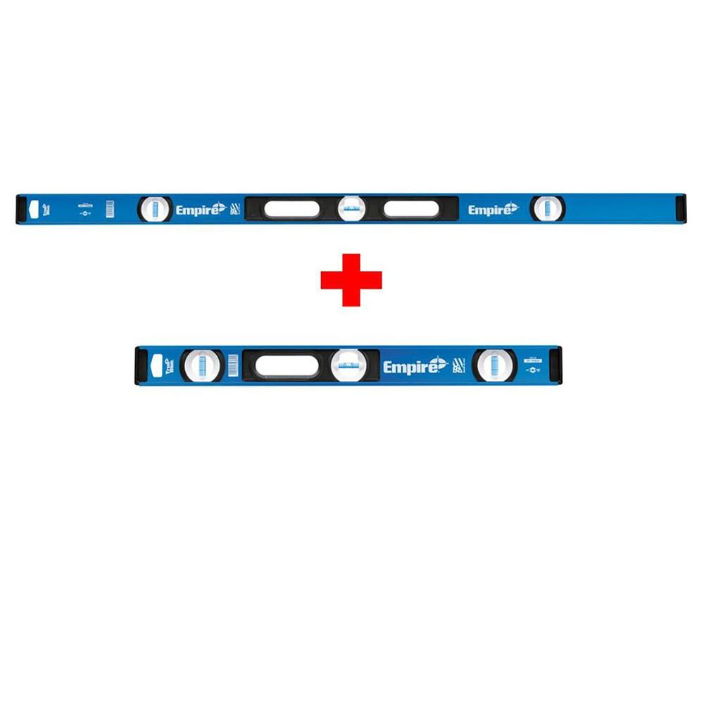 Empire 48 in. True Blue I-Beam Level with Free 24 in. True Blue I-Beam Level