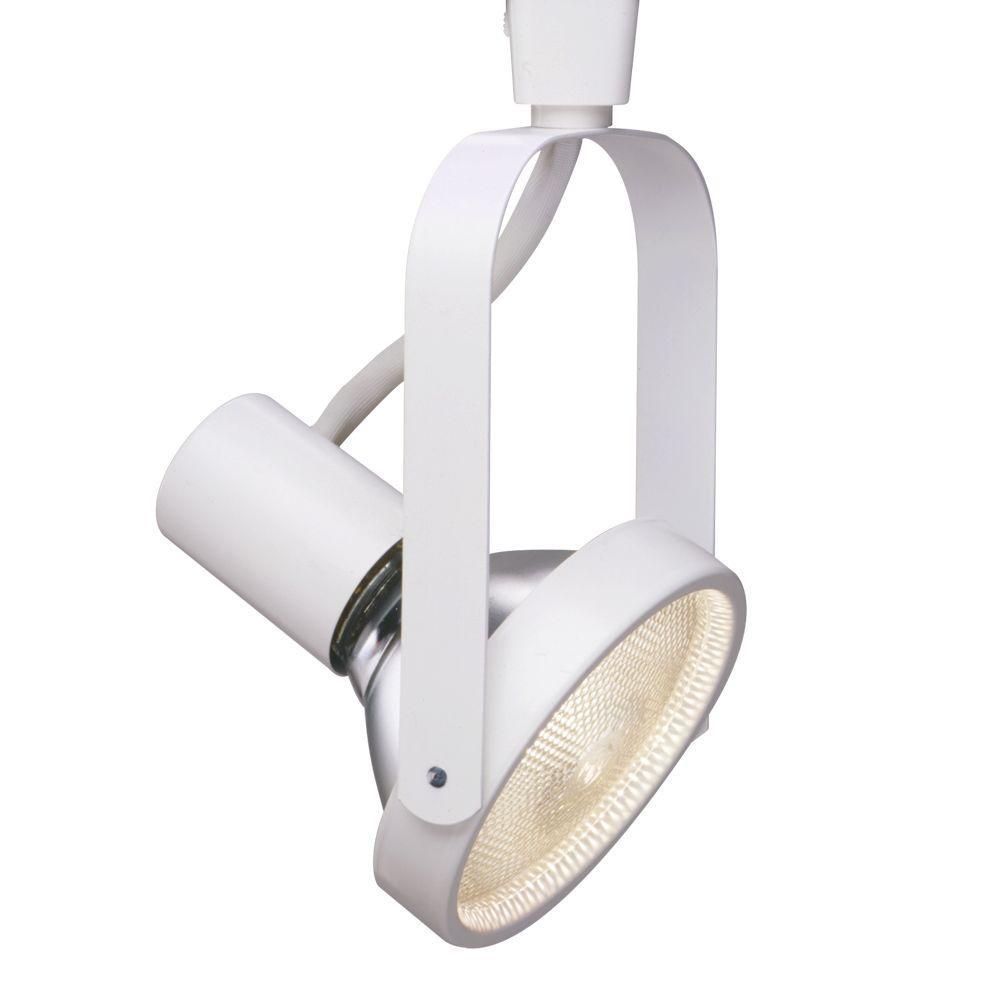 White 150-Watt PAR38 Lazer Gimbal Ring Track Light