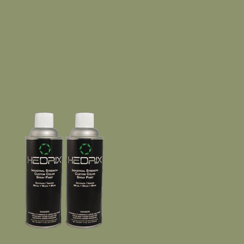 Hedrix 11 oz. Match of PPU11-2 Shallot Bulb Semi-Gloss Custom Spray Paint (2-Pack)