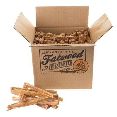 10 lbs. Fatwood Firestarter Kindling Sticks Box