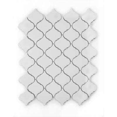 Tessen White 10-3/8 in. x 13 in. x 6.35 mm Polished White Porcelain Mosaic Wall Tile (9.37 sq. ft. / case)