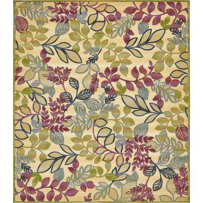 Outdoor Botanical Cream 10' x 12' Rug