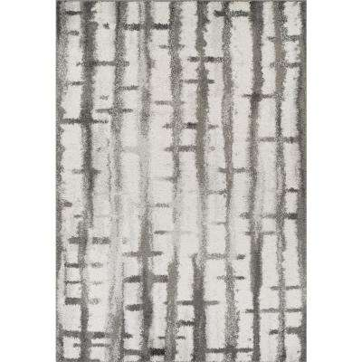 Harmony 2 Silver 5 ft. 1 in. x 7 ft. 5 in. Area Rug