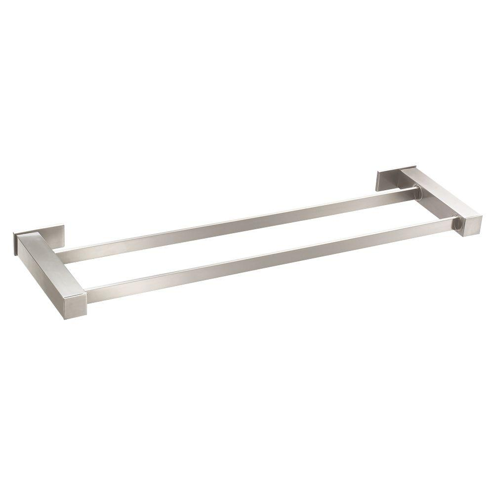 Danze Sirius 24 In Double Towel Bar Brushed Nickel D446133bn The Home Depot