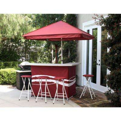 sets furniture the stools piece set with nassau darlee swivel bar cast premium aluminum outdoor shop at category store patio