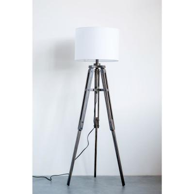 62.25 in. Black Mariner Floor Lamp with Shade