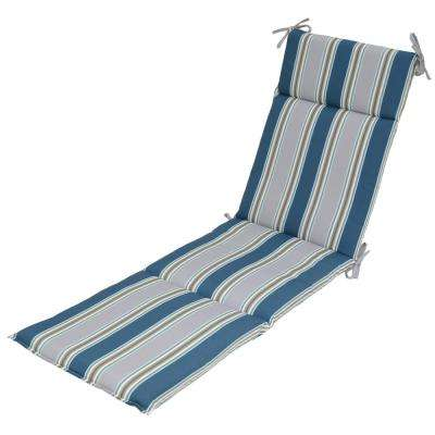 Charleston Stripe Outdoor Chaise Lounge Cushion  sc 1 st  Home Depot : chaise lounge patio cushions - Sectionals, Sofas & Couches