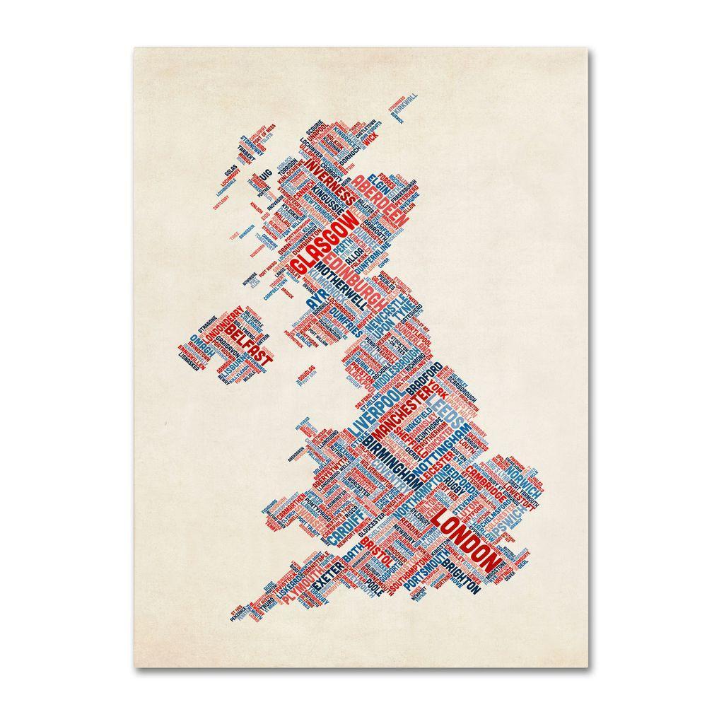 32 in. x 22 in. United Kingdom III Canvas Art