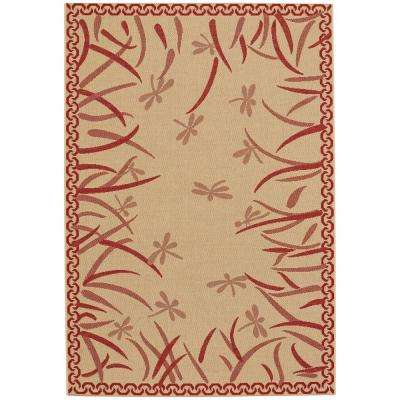 Elsinore Dragonfly Red Pepper 4 Ft X 6 Area Rug